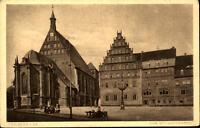 FREIBERG Sachsen ~1910/20 Strassen Partie am Dom Platz alte Postkarte ungelaufen