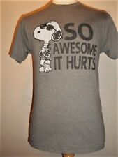 Peanuts SNOOPY So Awesome It Hurts T-shirt, S