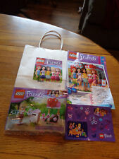 Lego Friends Stephanie'S Mailbox 30105 Nip Stickers Special Edition Booklet Lot