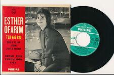 "EUROVISION 1963 EP 7"" FRANCE ESTHER OFARIM T'EN VAS PAS"
