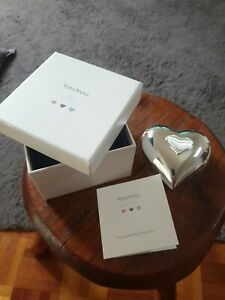 VERA WANG, WEDGEWOOD SILVER PLATED BABY COLLECTABLES, MUSICAL HEART