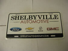 Booster Front License Plate Dealer Shelbyville Automotive Ford Chevrolet Buick