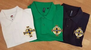 NEW NORTHERN IRELAND 'GREEN & WHITE ARMY' EMBROIDERED POLO SHIRT