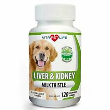 Milk Thistle Liver, Kidney and Bladder Support for Dogs, Detox, DHA, EPA, Hepati