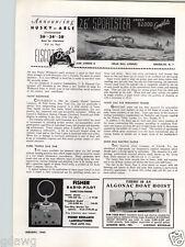 1940 PAPER AD Elscot Motor Boat 26' Sportster Brooklyn New York 34' 38' Husky