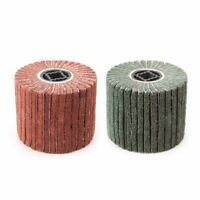 Non Woven Nylon Abrasive Flap Wheel Brush Wire Drawing Polishing Burnishing Drum