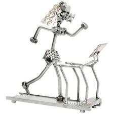 Fitness Laufband Schrauben-Lady Original Schraubenmännchen Sport Skulptur Figur
