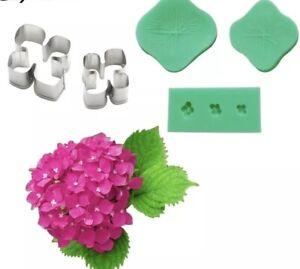 Hydrangea Cutter And Veiner Set Cake Decorating Sugarcraft Sugar Flowers Crafts