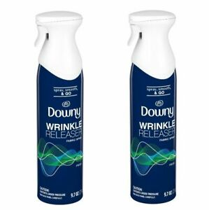 Downy Wrinkle Releaser Fabric Spray Fresh Scent Spray Smooth & Go 9.7 oz, 2 Pack
