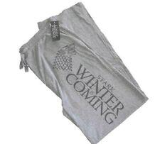 Game of Thrones Mens Pajama Lounge Pants Stark Winter Is Coming Sz M GOT Gray