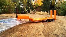 Herpa  Goldhofer Semitieflader  3achs mit Rampen orange  1:87