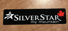 "Silver Star 🇨🇦 1.25"" x 5"" Vinyl Sticker Decal Ski Resort Snowboard Canada"
