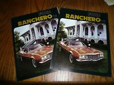 1974 Ford Ranchero The Pickup Car Sales Brochures - Vintage - Two for One Price