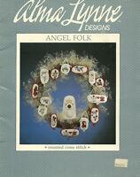 Angel Folk Christmas Ornaments Cross Stitch Patterns Skin color choices c