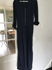 Ladies Marks And Spencer Size 22 Navy Wide Leg Jumpsuit