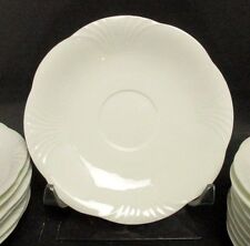 """(2) Villeroy and Boch Arco Weiss Large Soup Bowl Saucer 7 1/8"""""""