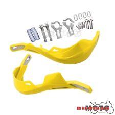 """Handguard Bar 7/8"""" Motorbike ATV Dirt Bike Brush Hand Guard Raptor Yellow 22mm"""