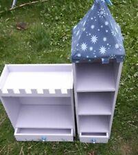 Castle & Tower Storage Grey Unit Shelves Kids Childrens Room Books Organiser