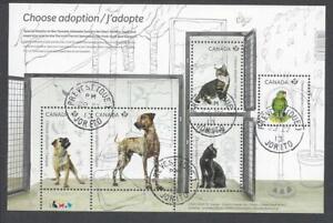 2013 Adopt a Pet Souvenir Sheet First Day Cancel