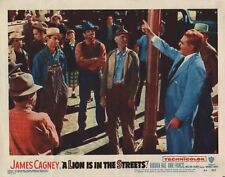 "JAMES CAGNEY - Orig Vintage 11"" x 14"" Lobby Card A LION IN THE STREETS 1953 C69"
