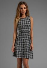 Theory Nikay Dress Porter Check houndstooth dogtooth black gray 10 sweater $285