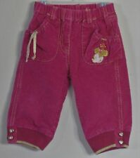 DISNEY BABY Girl Size 2 Years Pink Corduroy Pull-On Jeans