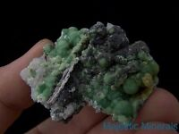 TOP COLLECTOR___GREAT LUSTER___EXTREMELY RARE Wavellite On QUARTZ___Arkansas