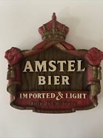 Vtg 1982 3D Beer Sign Amstel Light Bier Advertising Man Cave Bar Phase Four NY