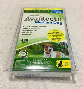 GENUINE Vetality Avantect II FOR Medium Dogs 11-20 lbs 4 doses *FREE SHIPPING*