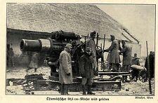 1914 Kampf um Przemysl * Österreichischer 30,5 cm-Mörser wird geladen *  WW1