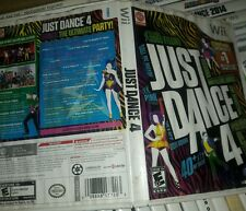 just dance 4 wii replacement case and manual only, water damaged