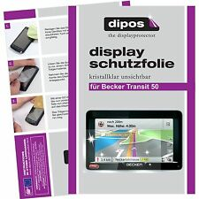 3x Becker  Transit 50 Schutzfolie klar Displayschutzfolie Folie dipos