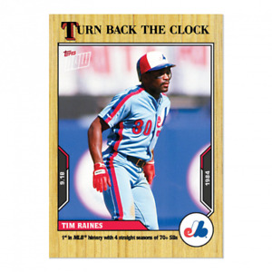 2021 Topps Now Turn Back the Clock #171 Tim Raines Montreal Expos PRESALE