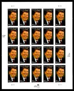 1¢ WONDER'S ~ 2004 MNH SOUVENIR SHEET W/ 39¢ RONALD REAGAN (FV = $7.80) ~ S40