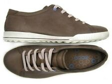 Womens ECCO CRISP 227854 brown leather fashion sneakers sz. 38 NEW!