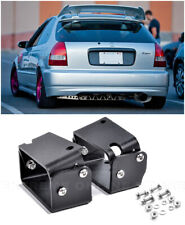 For 96-00 Honda Civic EJ6 Type-R CTR Wing Spoiler Riser BLACK Alex Tilt Bracket