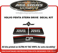 VOLVO PENTA DP STERN DRIVE Outdrive Decal Kit  reproductions DPE DUAL PROP
