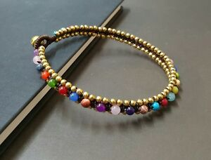 Colorful Round Woven Brass Anklet,Bead Anklet,Brass Anklet