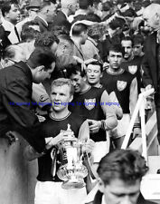 Bobby Moore  FA Cup 1964 with trophy 12x8 unsigned photo