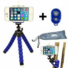 iPhone 8 7 6 X Tripod Flexible Mount Holder Bluetooth Remote Shutter Phone Stand