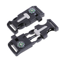 1Pc Fire Start Compass Whistle Buckle Outdoor Emergency Survival Knife Paracord-