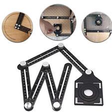 Aluminum Alloy Ruler Six-Sided Multi-Angle Measuring Tool Angle-izer Template UK