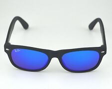 Ray Ban RB2132 New Wayfarer Flash 622/17 Black/ Blue Flash Lens Sunglasses 52mm