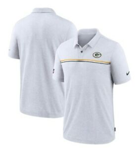 Nike Dri Fit Green Bay Packers On Field Golf Polo White S, L, XL, 2XL  MSRP $75