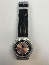 Unisex 1994 Swatch Watch Aluminium & Leather Wrist Watch