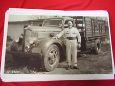 1938 DODGE TRUCK  & 1938 INDY 500 WINNER LOYD ROBERTS  11 X 17  PHOTO  PICTURE