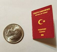 Miniature Turkey Passport  GI Joe Action Figure 1/12 Scale Jason Bourne Secret