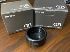 Ricoh GW-4 wide lens with GA-1 Lens Adapter for GR III