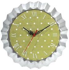 Horloge M en zinc en forme de moule à tarte à suspendre