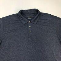 Cypress Club Performance Polo Shirt Men's 2XL XXL Short Sleeve Navy Polyester